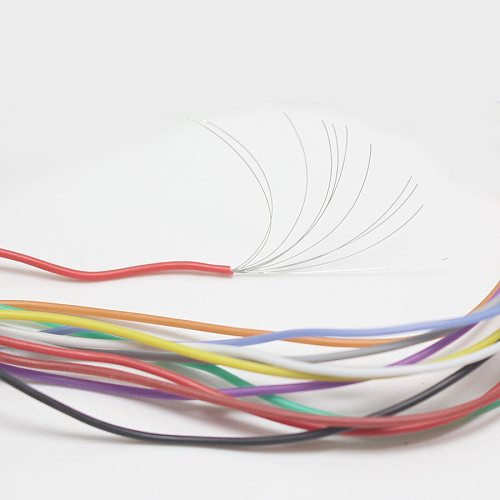 5metre 32AWG OD0.6mm Soft Silicone Cable Ultra Flexiable Test Line Wire Red Black Blue White Yellow Green Brown Grey