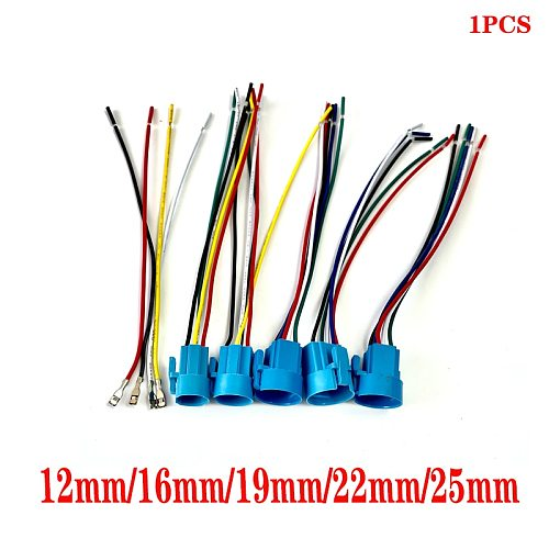 12mm 16mm 19mm 22mm 25mm cable socket for metal push button switch wiring 2-6 wires stable lamp light button