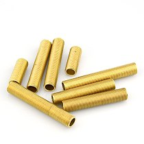 10pcs /lot Brass Lamp Tooth Tube M10 Screw Tube Brass Pipe with Screw Light Accessory Free Shipping