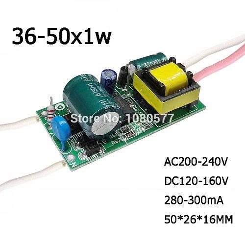 1-10pcs 1W-50W Constant Current LED Driver Lamp Power Supply 280mA 300mA 3W 5W 7W 9W 10W 20W 30W 36W 50W Lighting Transformer