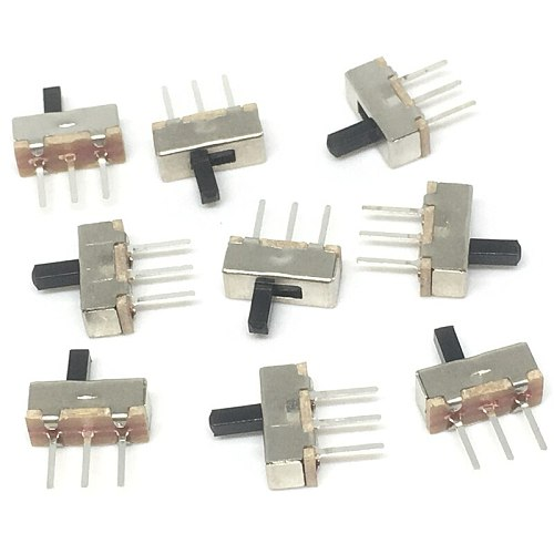 20Pcs Interruptor on-off mini Slide Switch SS12D00 SS12D00G3 3pin 1P2T 2 Position High quality toggle switch Handle length:3MM