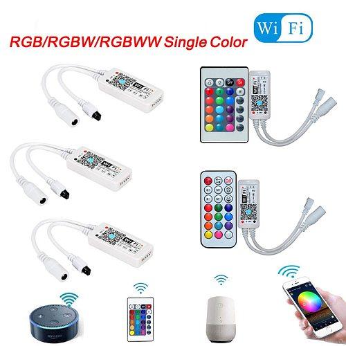 Magic Home LED Wifi Controller RGB RGBW RGBWW 5V 12V 24V WiFi led controller For led strip 5050 2835 5630 3528 WS2812B 2811
