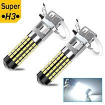 2x H3 H1 LED Car Fog Lights LED Bulbs H27 88 881 Daytime Running Light DRL Fog Light 12V Driving Lamp 12V 24V 144SMD 4014 Chips
