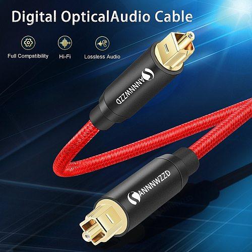 Digital Optical Audio Cable SPDIF Fiber Toslink Speaker Wire for TV Box Amplifiers Blu-ray Player Xbox 360 Soundbar Fiber Cable
