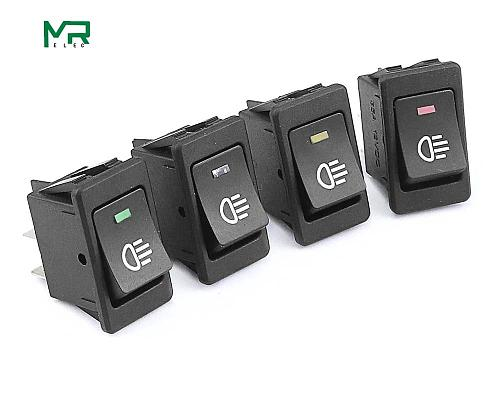 KCD4 Rocker Switch ON-OFF 2 Position 4 Pins  LED 12V 35A automobile refitting fog lamp switch with light Rocker switch