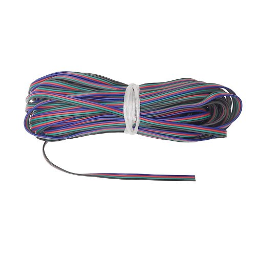 1m 2m 5m 4 Color 22AWG 4pin  RGB Cable Extension PVC Insulated Wire Cable LED Connector for 5050/3528 Light Strip/Module etc