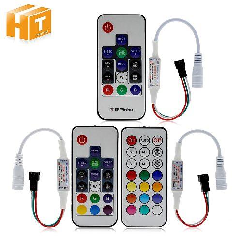 Dream-Color Controller 14/17/21 Keys DIY RF Remote Control DC5V-24V 358 Kinds of Changes Effects For WS2812B WS2811 Strip