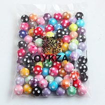 OYKZA 12mm 14mm 16mm 18mm 20mm 24mm Chunky Resin polka dot Beads For Kid's Fashion Jewelry Beaded Necklace Making