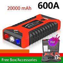 Car Jump Starter 20000mAh 600A 12V Output Portable Emergency Starter Power Bank Car Booster Starting Device Waterproof