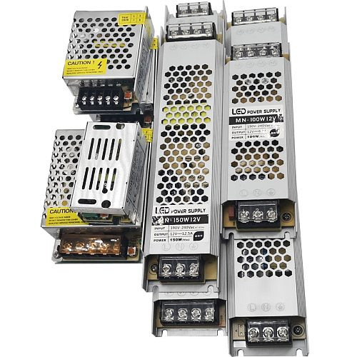 Ultra Thin LED Power Supply DC 12V 24V Lighting Transformers 60W 120W 180W 240W 360W  AC190-240V Driver For LED Strips