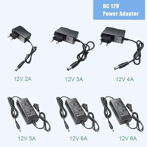 Power Supply DC  12V  1A 2A 3A 5A 6A 8A Power Supply Adapter DC 12V Volt Power Supply Adapter Lighting Led Strip Lamp