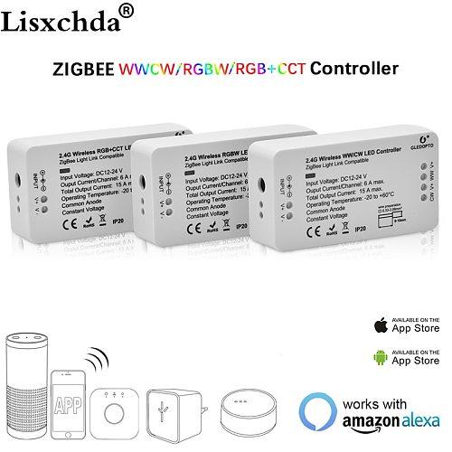 ZIGBEE bridge Led Controller RGB/RGBW/RGB+CCT DC12/24V Zigbee APP LED controller ZLL controller compatible with LED ECHO