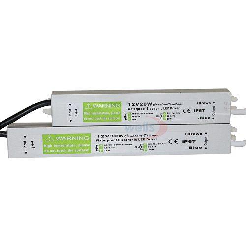 Waterproof IP67 LED Driver Ac dc 12V/24V 10W 15W 20W 25W 30W 36W 45W 50W 60W 80W 100W 120W 150W Power Supply for LED strip Light