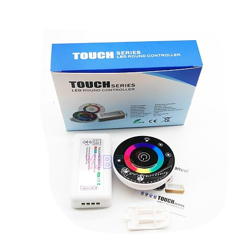 RGB strip light Touch Round Controller DC12V 24V with 18A 7 Keys RF Remote 3528 2835 5050 LED Lamp Tape controller