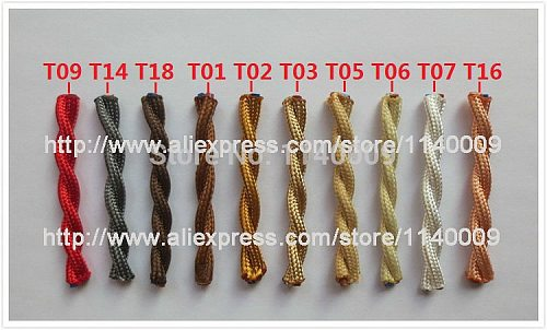 2m 3m 5m 10m 2 Core 0.75 Vintage Twisted Cable Retro Braided Electrical Wire Fabric Lamp Cord