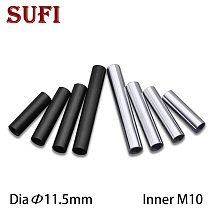 5pcs Inner M10 female thread connection tube screw  tube hollow straight rod sliver black inner tooth tube lamp accessories
