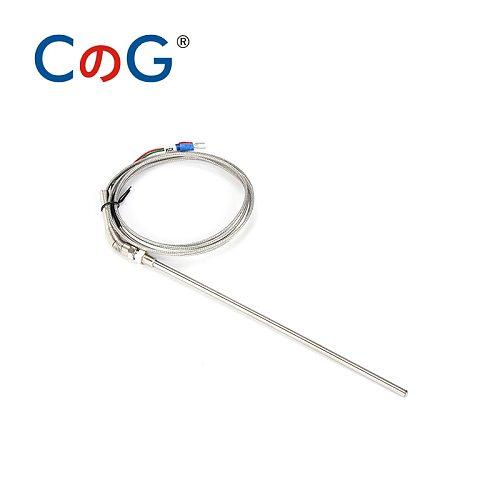 CG 5/16' K J PT100 Type 1m 2m 3m 5m Wire Cable 50mm 100mm 150mm 200mm Probe Thermocouple Temperature Sensor for Temp Controller