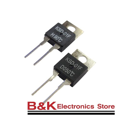 KSD-01F 40~150 Degree Celsius Normally Open Close Temperature Switch Thermostat Thermal Protector TO-220