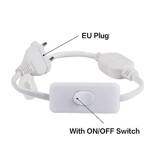 220v EU Plug LED Strip Accessory Power Supply Light With Switch
