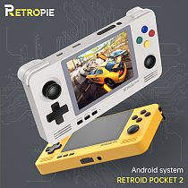 Retropie Retroid Pocket 2 Retro Game Pocket Console 3.5-inch IPS Screen Android and Pandora Dual System Switching 3D Games