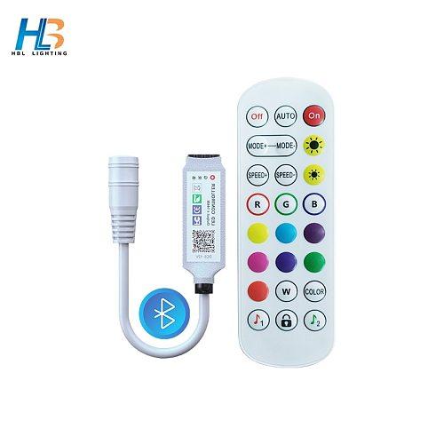 USB 5V Bluetooth Led StripS RGB Controller Dynamic Modes for DC 12V Led strip 24 Key Dimmer Switch for 5050/3528 Led Strip Light