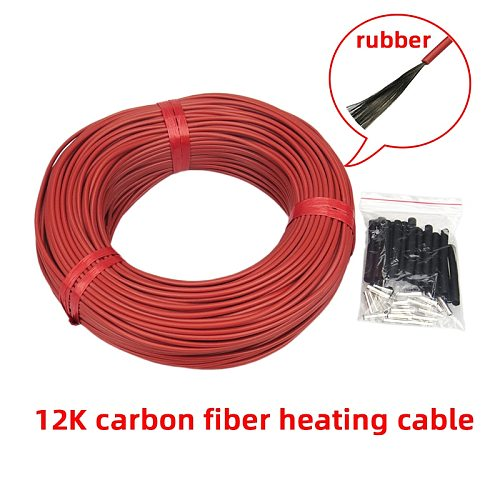 Low Cost but High Quality 12K New Infrared Carbon Fiber Heating cable/wire, to warm floor/wall/greenhouse, hatch poultry,etc.