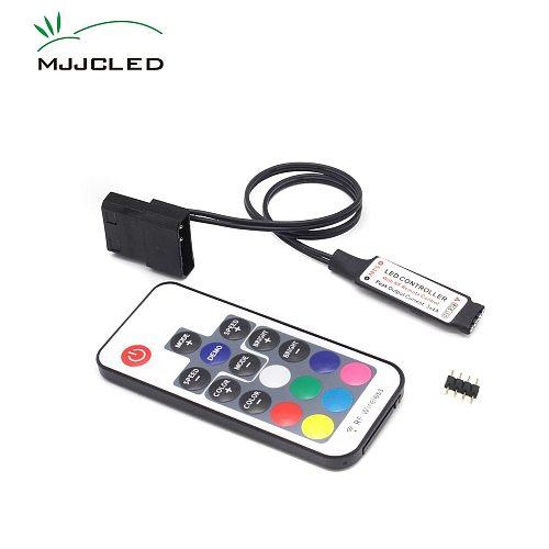 SATA RGB Controller RF17 Keys Remote DC 12V Wireless Large 4 Pin RGB Controller for PC Computer Case 5050 RGB LED Strip Light
