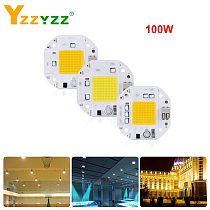 100W High Power 70W 50W COB LED Chip 220V 110V LED COB Chip Welding Free Diode for Spotlight Floodlight Smart IC No Need Driver