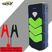 GKFLY 12V 20000mAh Car Jump Starter Emergency Starting Device Power Bank Car Battery Booster Buster Starter Cable