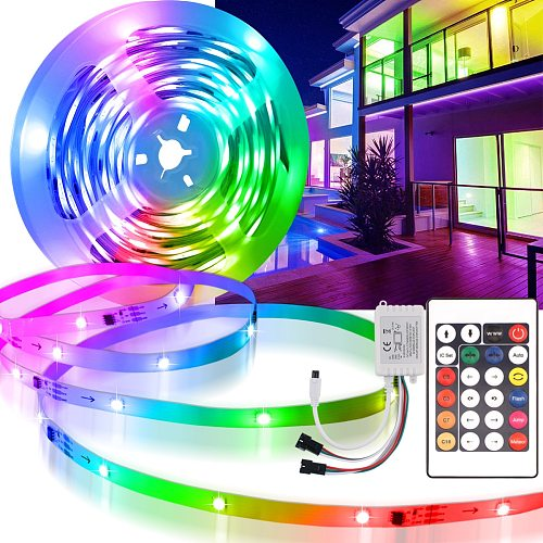 WS2811 RGB Led Strip Light Similar 5M 10M Individually Addressable with Control Ribbon Neon Light decoration for bedroom square