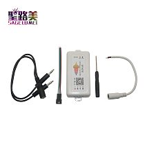 SP107E DC5-24V Bluetooth LED Music Controller RGB SPI LED Controller by phone APP for WS2812 SK6812 APA102 LPD8806 strip lights