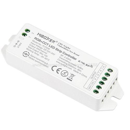 MiBOXER FUT039 (Upgraded) 2.4GHz RGB+CCT LED Strip Controller Smartphone APP / 2.4GHz RF / Voice / DMX512 Control Panel Control