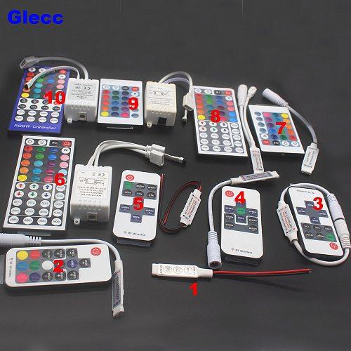 LED Strip Light Mini 3/11/17/24/40/44 Key IR Remote Wireless Controller Wifi LED RGB Controler DC12V MIni Wif For 3528 5050 RGB
