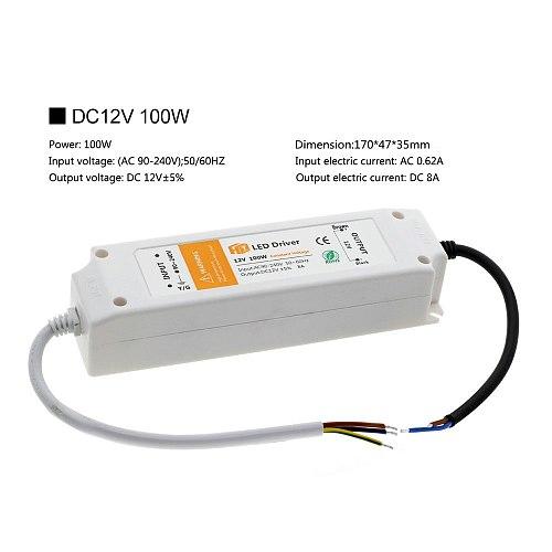 LED Lighting Transformers DC12V 18W 36W 72W 100W High Quality Safe Driver For LED Strip Power Supply