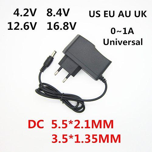 DC 4.2V 8.4V 12.6V 16.8V 1A 1000MA Adapter Power Supply 4.2 8.4 12.6 16.8 V Volt charger for 1S 2S 3S 4S 18650 lithium battery
