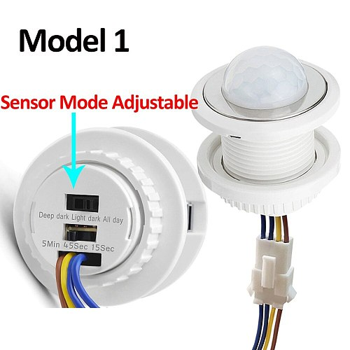 Time Delay Adjustable 110V-220V Highly Sensitive Auto ON/OFF PIR Infrared Motion Sensor Switch Mode Detector Light Switch