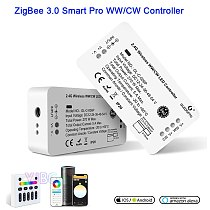 ZigBee 3.0 LED WW/CW Controller Pro Smart Warm White Cold White Light dimmer Work with Alexa Echo Plus SmartThings RF Remote