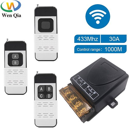 433Mhz High Power Wireless Remote Control Switch  AC75-220V 30A 1000M For Factory Farm Office Exhaust Fan Pump Ceiling Lamp