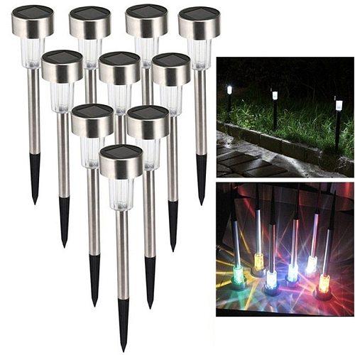 5/10 Pcs LED Solar Garden Lights Solar Lawn Lamp Waterproof Outdoor Christmas Valentine's Day Holiday Lighting 2021