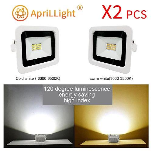 2pcs LED Floodlight 220V 10W 20W 30W 50W 100W FloodLight IP68 Waterproof Outdoor Wall Reflector Lighting Garden Square Spotlight
