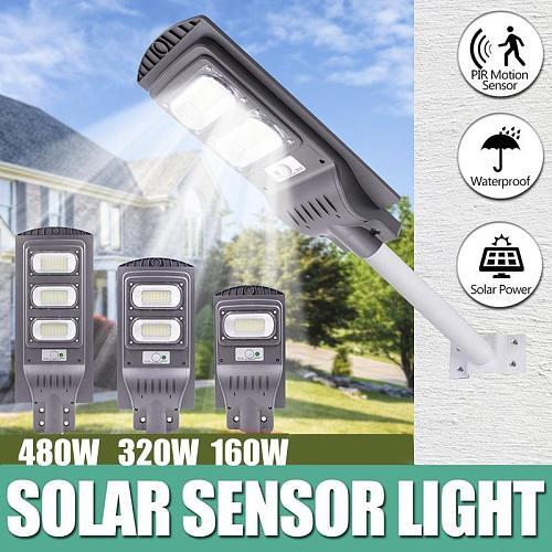 160W 320W 480W LED Solar Street Lights PIR Motion Light Sensor Waterproof IP65 Outdoor Street Lighting Fixture for Parks Grden