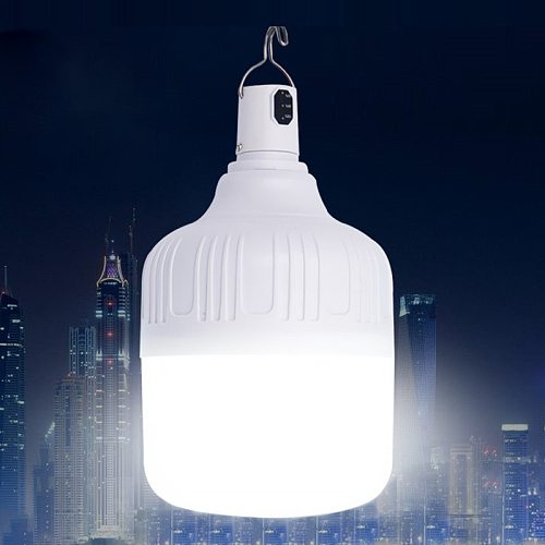 Rechargeable LED Bulb Lamp Portable Emergency Night Market Light Outdoor Hiking Camping Fishing BBQ Hanging Night Light
