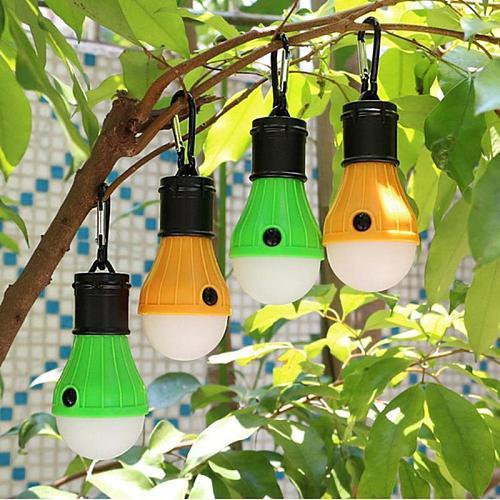 3led Tent Hanging Lamp 3 Modes Outdoor Sos Emergency Carabiner Bulb Light Emergency Light Lantern Hiking Energy Saving Lamp