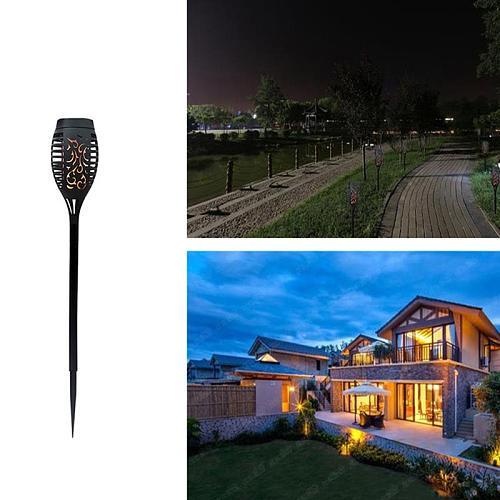 Solar Flame Torch Light Flickering Waterproof Garden Decor Landscape Lawn Lamp Path Lighting Torch Outdoor Light