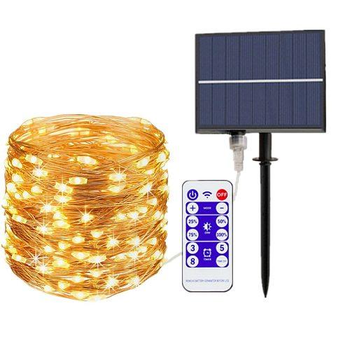 LED Outdoor Solar Lamp String Lights 300/500 LEDs Fairy Holiday Christmas Garland Waterproof Solar Lights Garden Decor 30m 50m