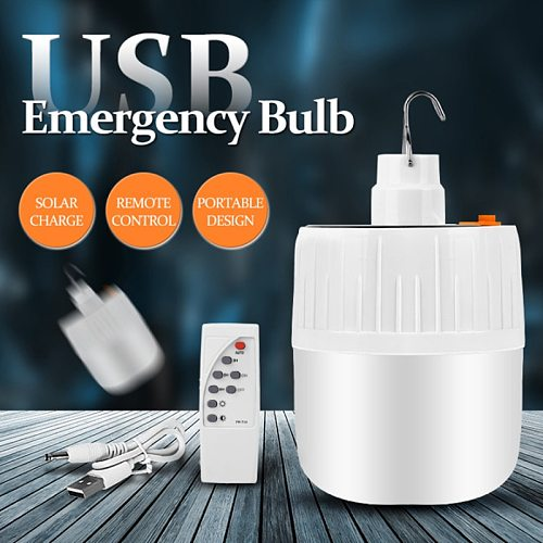 Camping Lantern Solar Led Camping Light Bulb USB Rechargeable Portable Lanterns Lamp for Fishing Outdoor Emergency Lighting