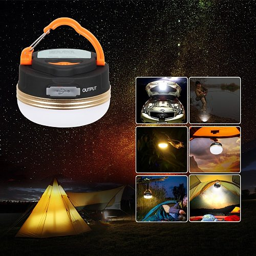 T-SUN 1-4pcs Mini Camping Lights 3W LED Camping Lantern Tents lamp Outdoor Hiking Night Hanging lamp USB Rechargeable
