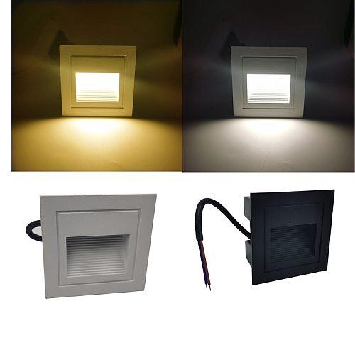 IP65 Waterproof Wall Light Underground Led Step Stair Lights Outdoor Footlight Recessed Corner wall Lamp exterior garden light