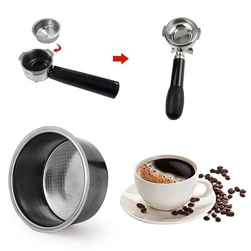 1pc 4 Cup Serving Stainless Steel Coffee Bottomless Mobile Filter For Filter 51MM Replacement Filter Basket Coffee Accessories