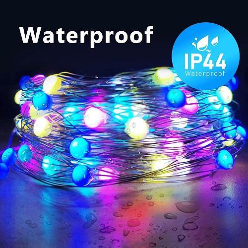 10M 20M Christmas Wedding Party Decoration Light WS2812B SK6812 Pixels RGB LED Fairy String Addressable Individually USB DC5V